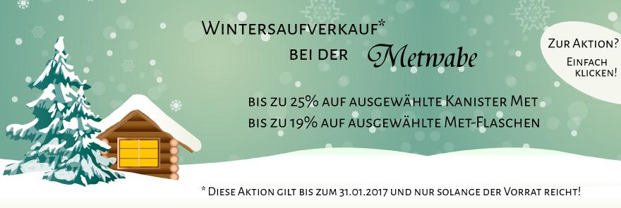 Metwabe: Wintersaufverkauf
